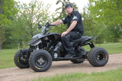 Jeff Tweet and his custom ATV