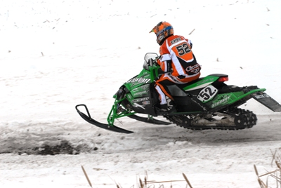 D.J. Ekre, still in the lead during the final leg of the 2010 I-500