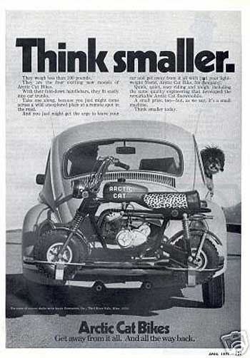 Arctic Cat Minibike advertisement