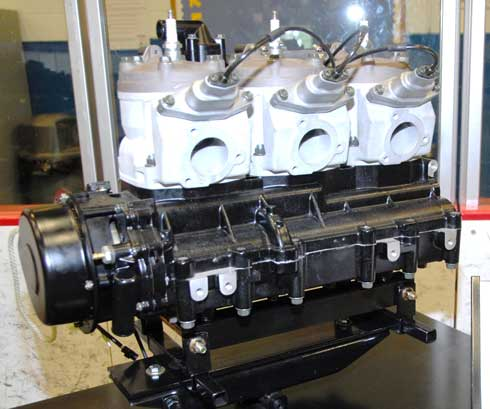 Prototype 1100cc triple for the Arctic Cat Thundercat