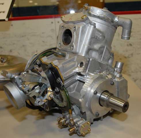 Prototype single cylinder Arctic Cat engine