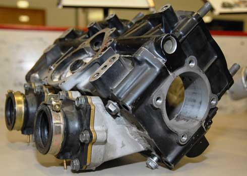 First prototype 440cc laydown engine