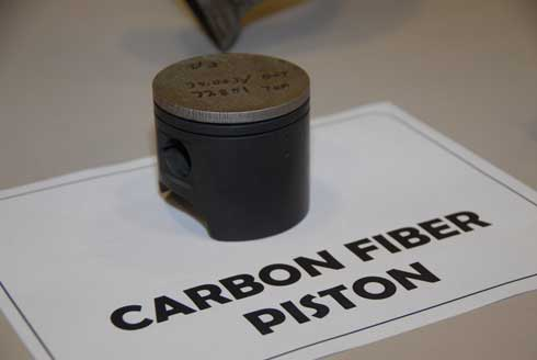 Carbon-fiber piston