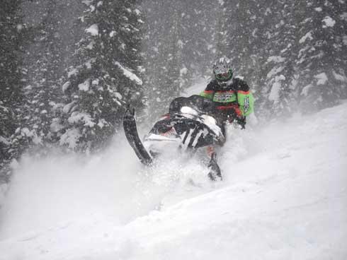 Andy Beavis working an M on a sidehill