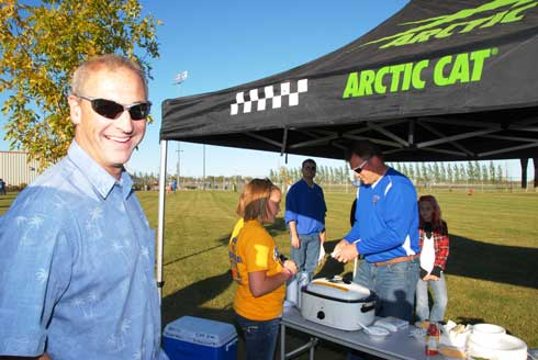 Doug Wolter at the TRF Homecoming tailgate party