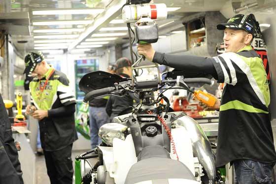 Inside the Factory Team Arctic race trailer