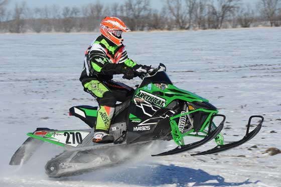 Team Arctic Cat racer Garth Reinking
