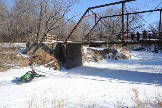 Grafton USCC cross-country snowmobile race