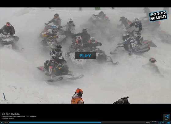 2012 Snocross World Champ Tucker Hibbert of Monster & Arctic Cat