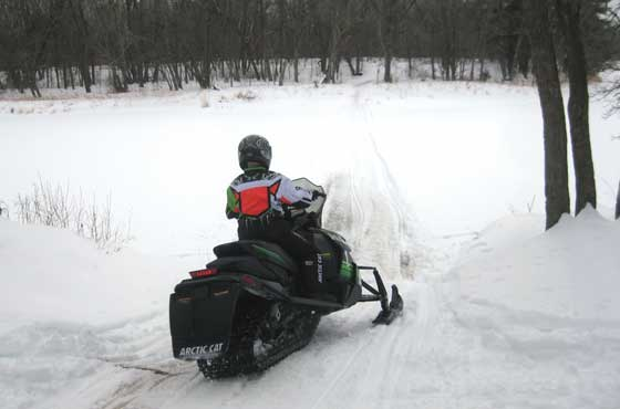 Riding the Arctic Cats in Minnesota's short winter of 2012