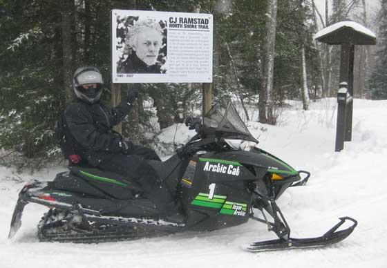 C.J. Ramstad North Shore State snowmobile Trail