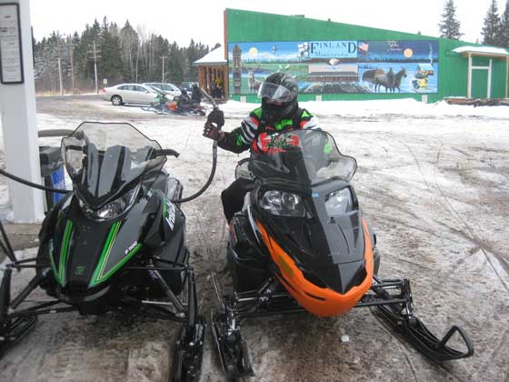 Riding the Arctic Cat snowmobiles on the C.J. Ramstad North Shore Trail