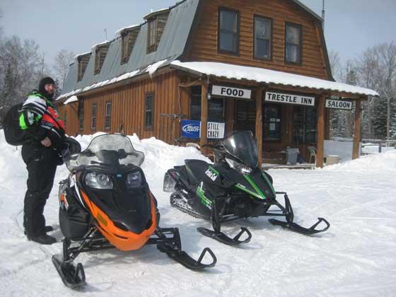 The famous Trestle Inn on Crooked Lake