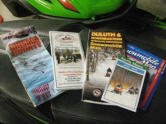 Snowmobile Trail Maps... a good sign