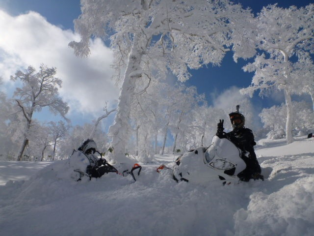 Arctic Cat snowmobile in Japan