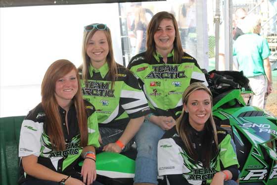Team Arctic Cat Women Snocross racers
