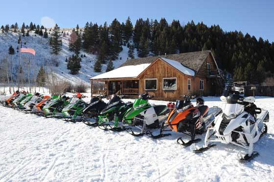 2013 Arctic Cat snowmobiles at Elk Lake Camp
