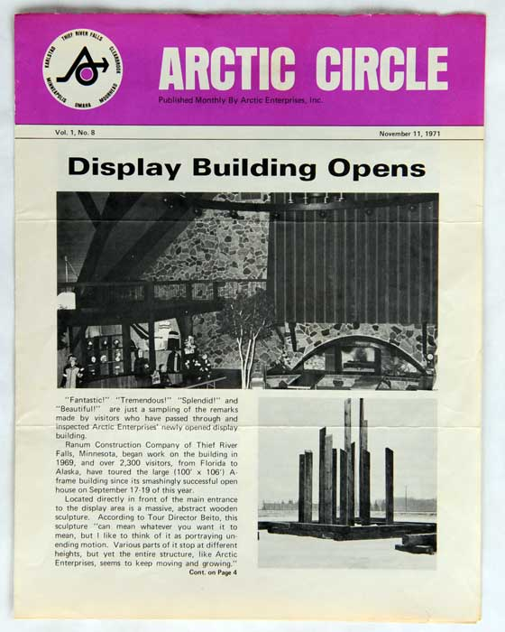 """Arctic Cat """"Circle"""" Newsletter from Nov. 11, 1971"""