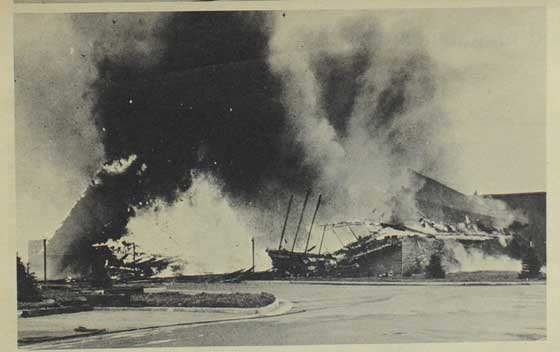 Arctic Cat Display Building Fire in 1973
