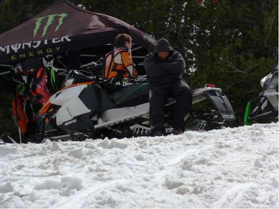 Testing a prototype 2013 Arctic Cat Sno Pro Race Sled