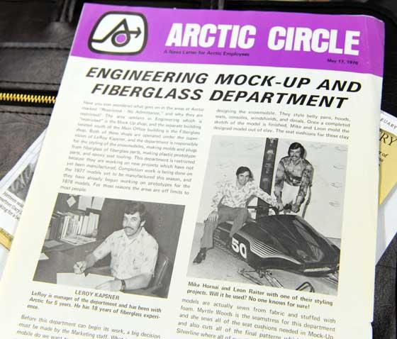 An Arctic Cat Circle newsletter circa 1976