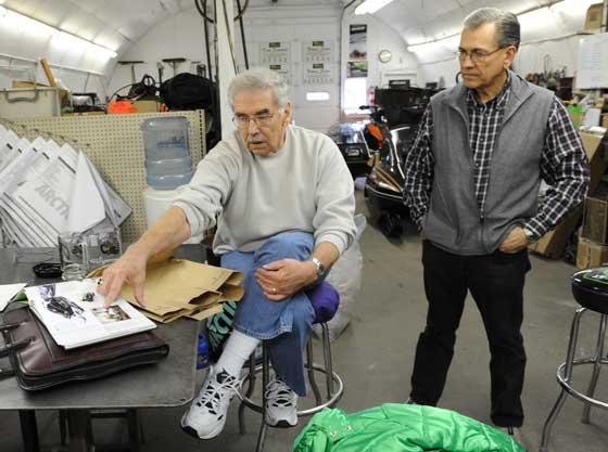Leon Raiter (r) and Leroy Kapsner, of Arctic Enterprises' styling era