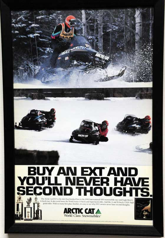 Arctic Cat Race Win Poster from 1990