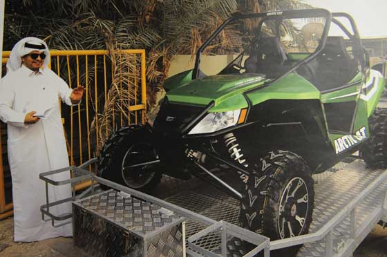 They're loving up the Arctic Cat Wildcat in the Mideast
