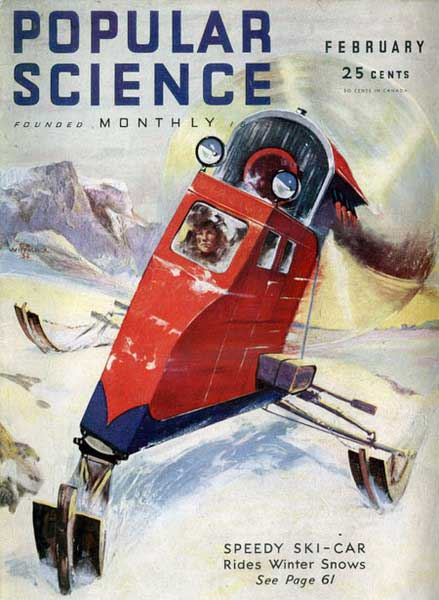 Snowmobiling Popular Science-style