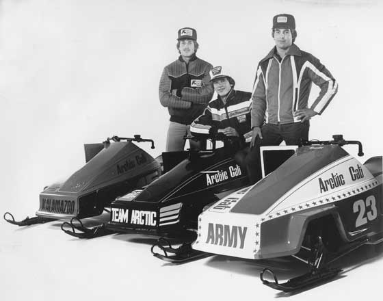 Team Arctic's youthful Sno Pro program in 1978