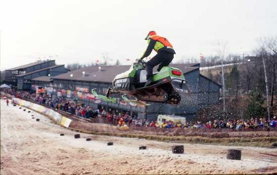 Blair Morgan at Duluth snocross in 1997. Photo: ArcticInsider.com