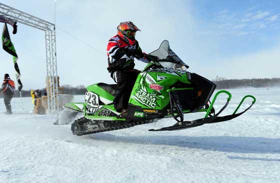 Team Arctic Cat/Christian Bros. Racing Brian Dick wins DL. Photo: ArcticInsider.com
