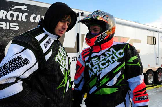Team Arctic Cat's Mike Kloety and Brian Dick. Photo by ArcticInsider.com