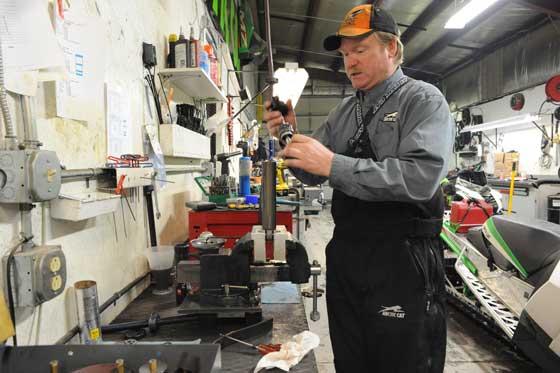 Arctic Cat suspension engineer Jeff Olson