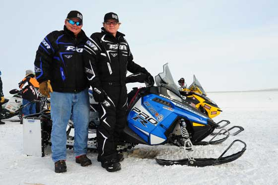 Richard Hanson (R) and his brother fulfilled a lifelong dream at the I-500