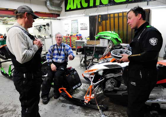 Arctic Cat engineers Bart Magner, Roger Skime and Brian Dick