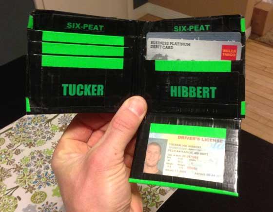 Tucker Hibbert's sweet new wallet. Photo: ArcticInsider.com
