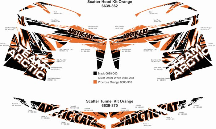 Scatter Cat Wrap panels from Arctic Cat