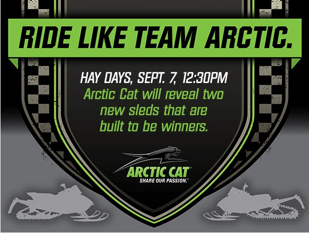 Arctic Cat sled reveal at Hay Days 2014