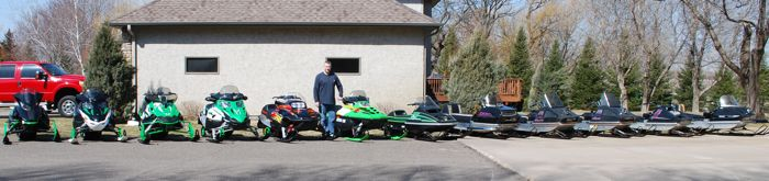 Scott Watters Collection of Arctic Cat snowmobiles
