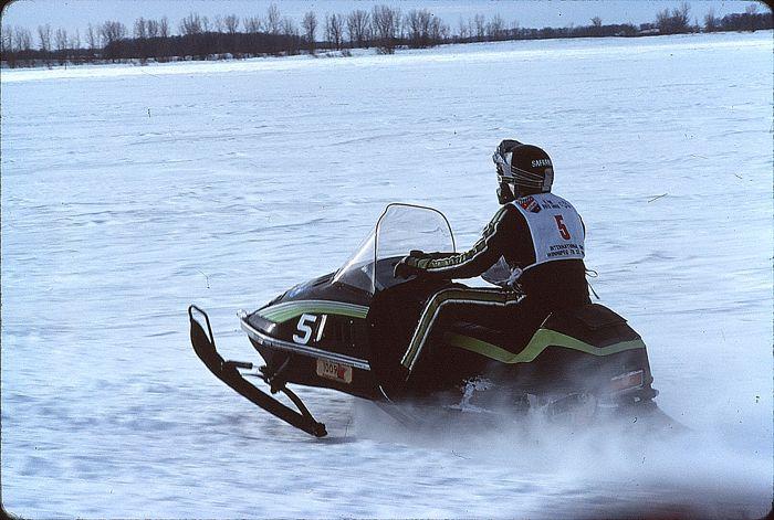 Team Arctic Cat's Jim Safranski in the I-500