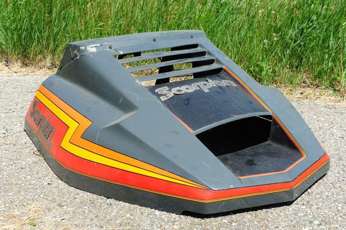 1982 Scorpion Sidewinder prototype hood. Photo by ArcticInsider.com