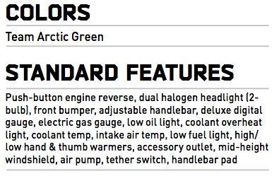 2015 Arctic Cat ZR 6000R XC specifications, at ArcticInsider.com