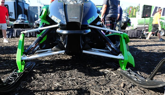 Arctic Cat unveils the 2015 ZR6000R XC snowmobile at Hay Days. Photo by ArcticInsider.com