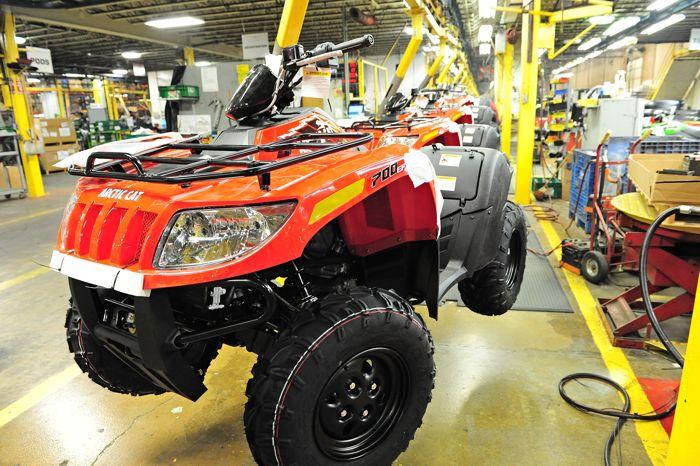 2015 Arctic Cat 700 ATV on the production line. Photo by ArcticInsider.com