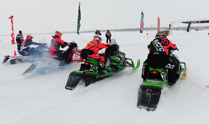 Team Arctic Cat's Brian Dick and Wes Selby, with Justin Tate and Matt Piche. Photo by ArcticInsider.com