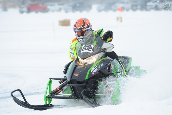 Team Arctic Cat's Hunter Houle wins three classes at Detroit Lakes. Photo: ArcticInsider.com