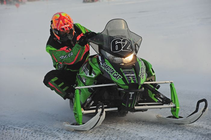 Team Arctic's Lance Efteland wins both Semi Pro races at Detroit Lakes. Photo: ArcticInsider.com