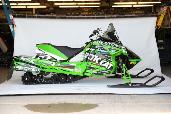 Soo 500-winning Arctic Cat ZR6000R race sled of Brian Dick & Wes Selby. Photo by ArcticInsider.com