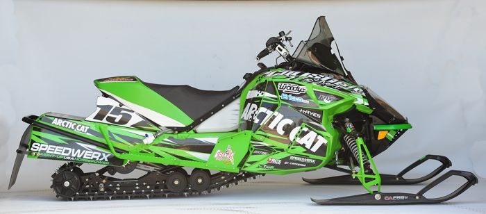 The 2015 Soo 500-winning Arctic Cat of Brian Dick & Wes Selby. Photo by ArcticInsider.com